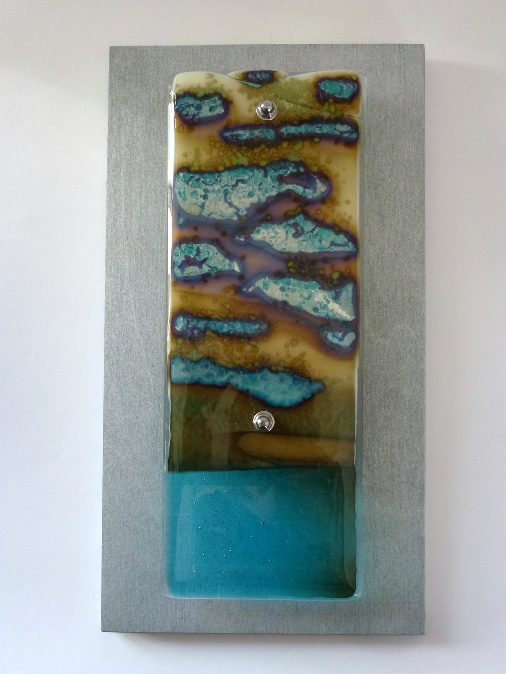 Rocky Shore – Kiln Fused Glass by Jeanette Cook