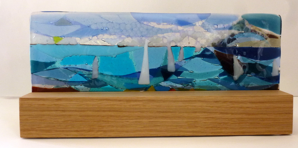 Sail Away – Kiln Fused Glass by Jeanette Cook