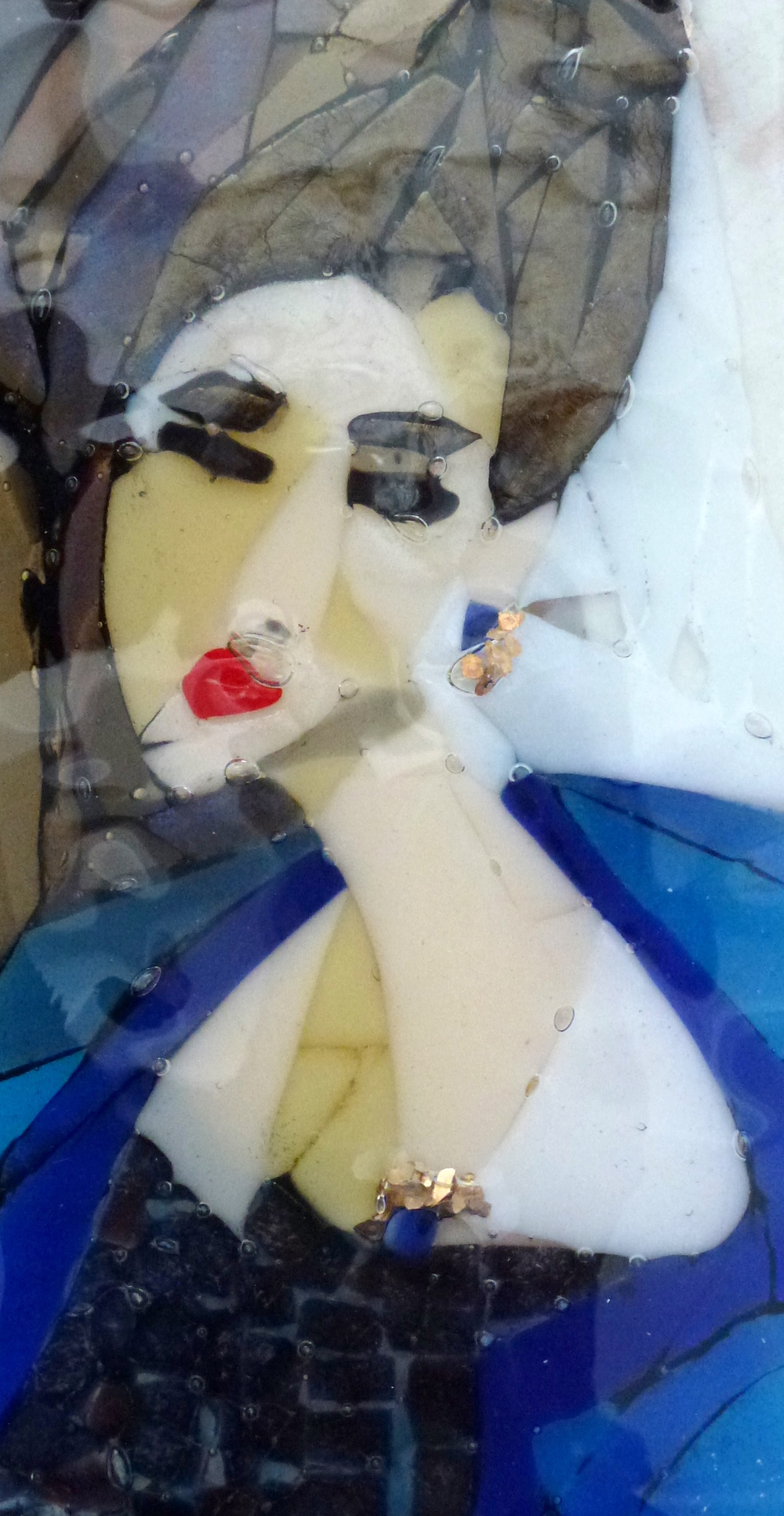 The Blue Cape – Kiln Fused Glass by Jeanette Cook