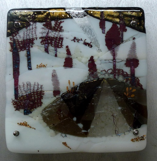 Moonlight Reflections kiln fused glass Jeanette Cook