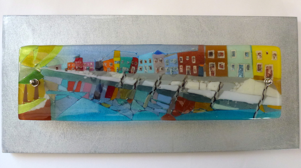 Burano - Venice series fused glass by Jeanette Cook