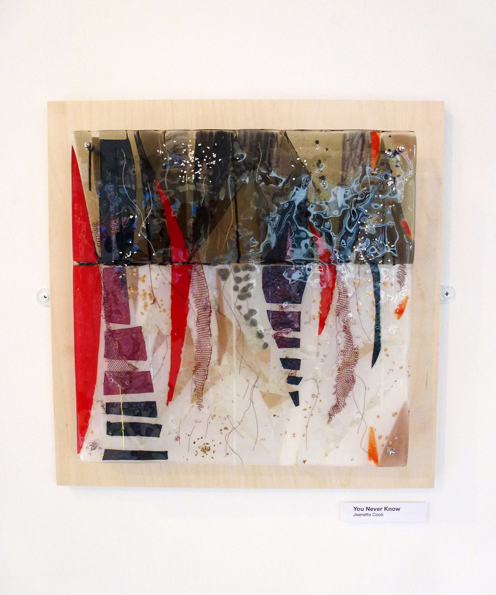 You Never Know – Kiln Fused Glass by Jeanette Cook