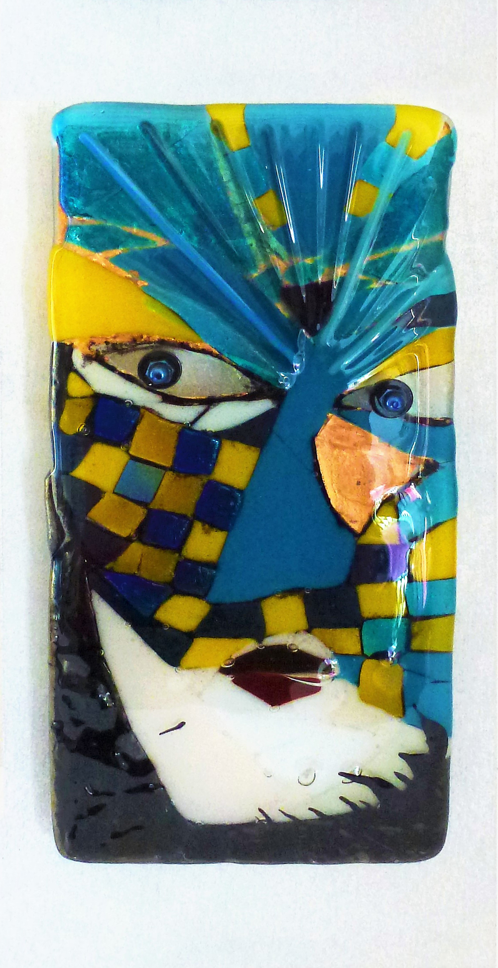 Diavolo Blu - Venice series fused glass by Jeanette Cook