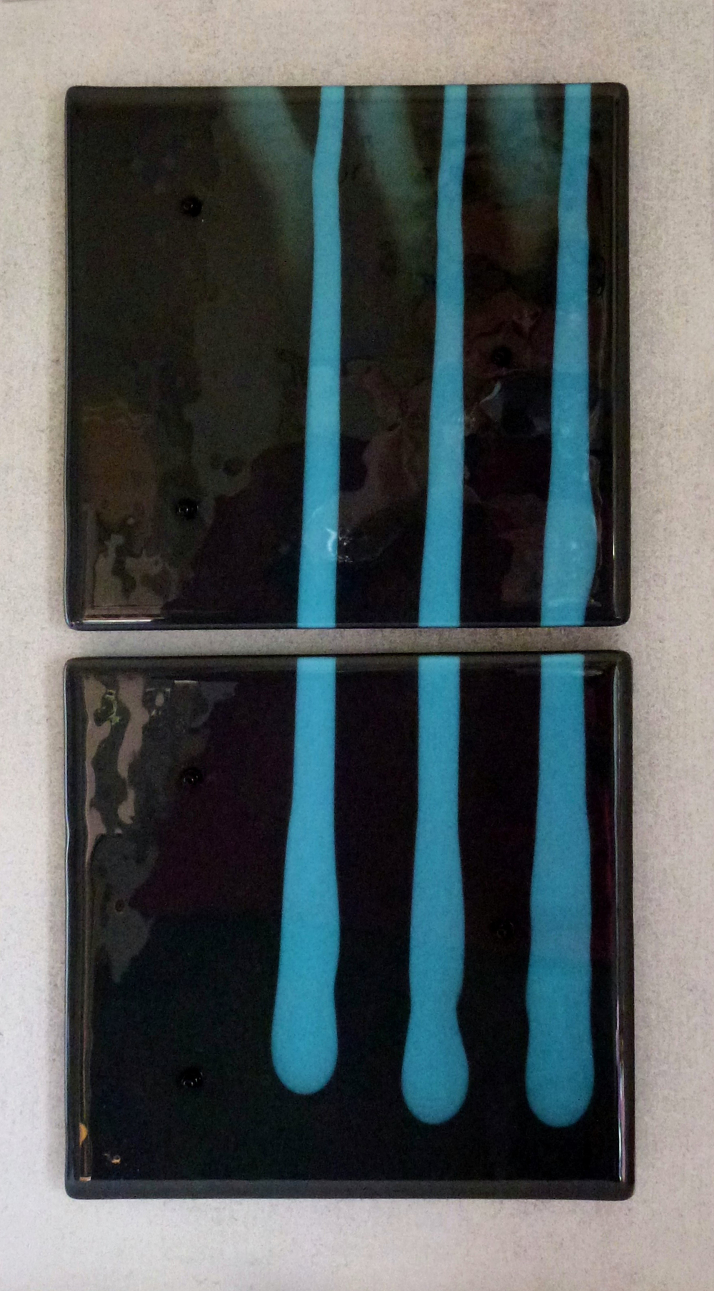 Interrupted – Kiln Fused Glass by Jeanette Cook