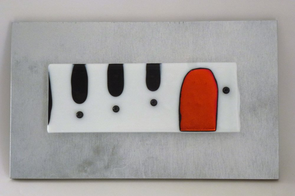 Rising Note – Kiln Fused Glass