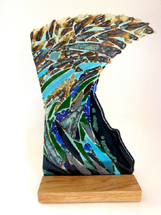 Cresting – Kiln Fused Glass by Jeanette Cook