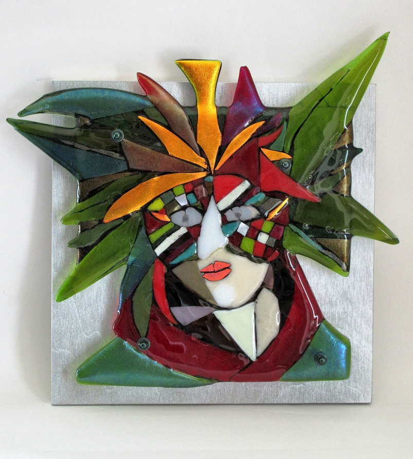 Noelia - Venice series fused glass by Jeanette Cook