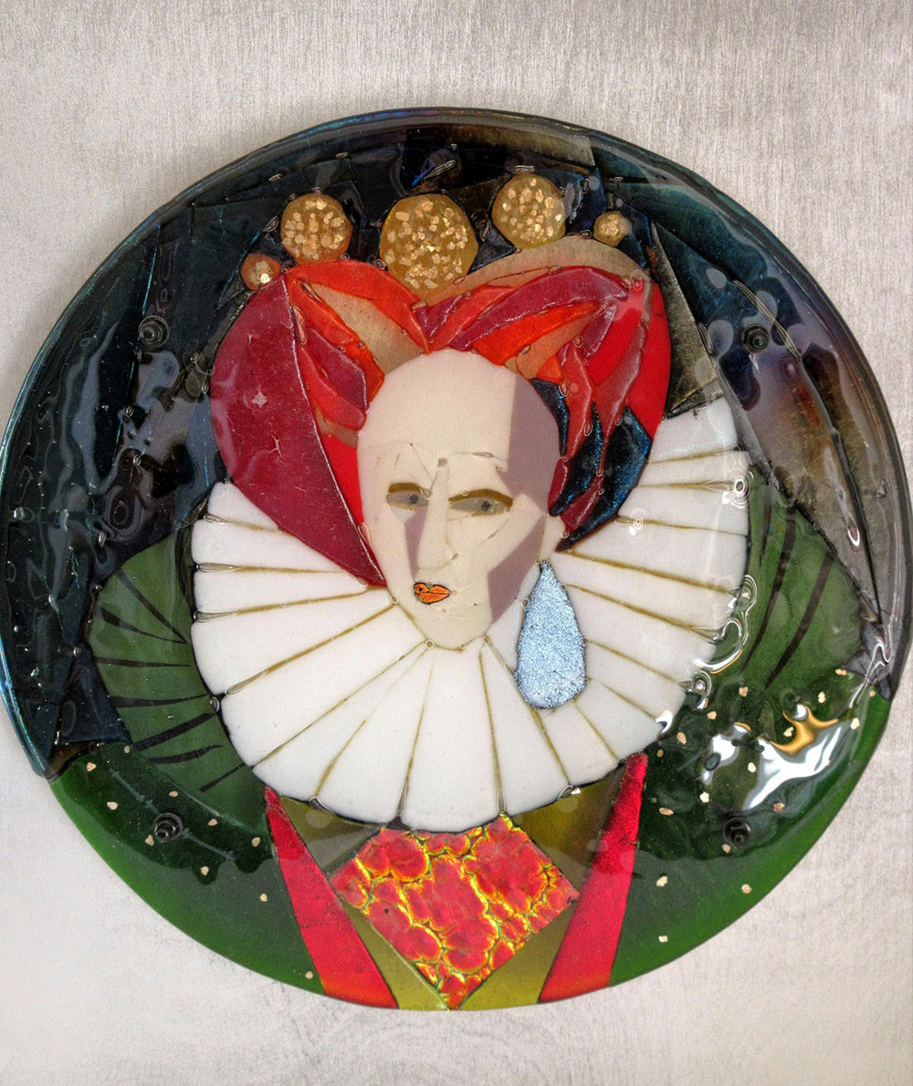 Weak & Feeble Woman – Kiln Fused Glass by Jeanette Cook