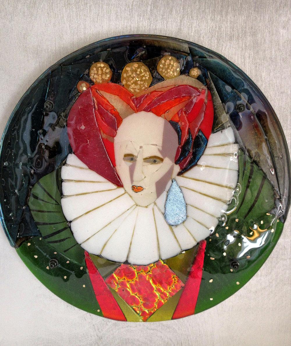 Weak & Feeble Woman – Kiln Fused Glass by Jeanette Cook