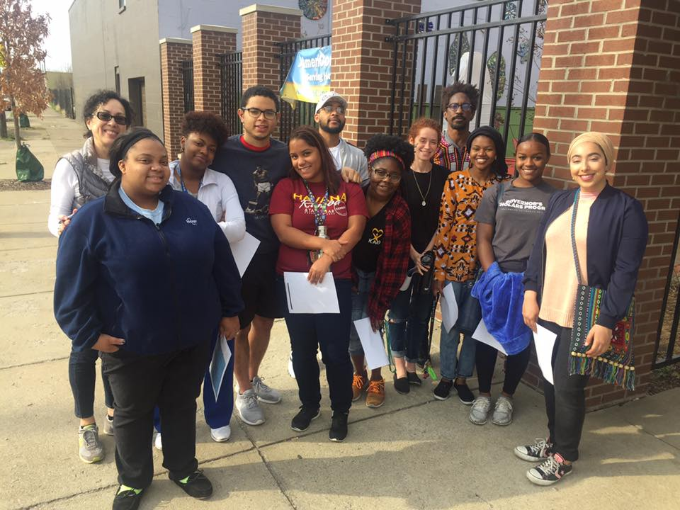 Muhammad Ali Scholars canvasing Smoketown for Project HEAL's  One Poem at a Time .