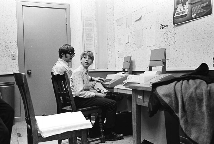 Paul Allen and Bill Gates at ages 17 and 15. Taken 5 years before Microsoft was founded.