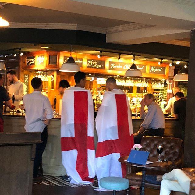 Come on England! #worldfinals18 #worldcup2018 #england #englandfootball #pub #beergarden #beer