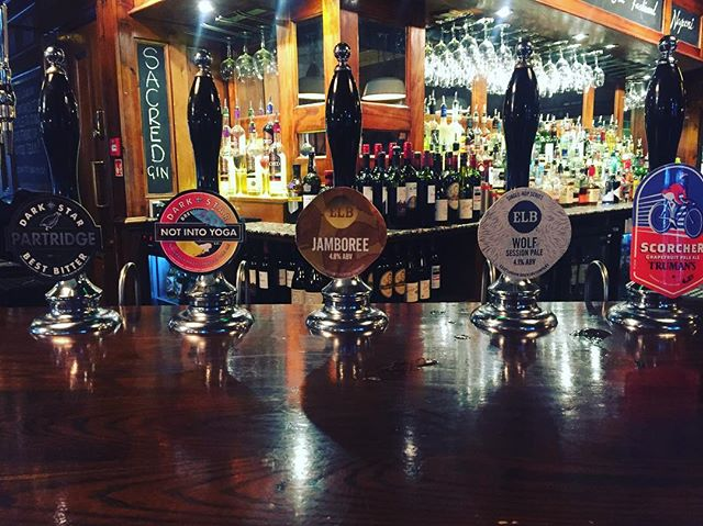 Top line-up @darkstarbrewco @eastlondonbrew @trumans_beer #realale #craftbeer #pub #beer #lovebeer #beerporn #highgate