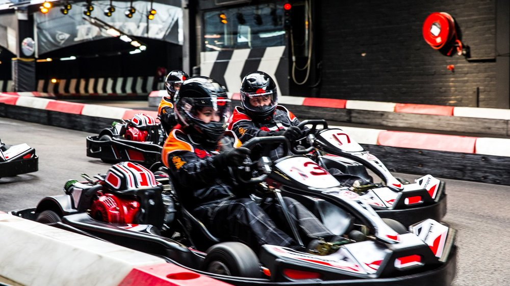 You will be racing the 200cc BIZ KARTS capable of speeds of 45mph.