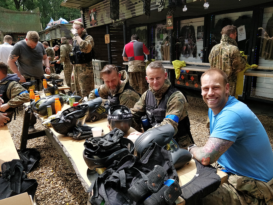 Five of Nine Club - New and Young Masons Paintballing