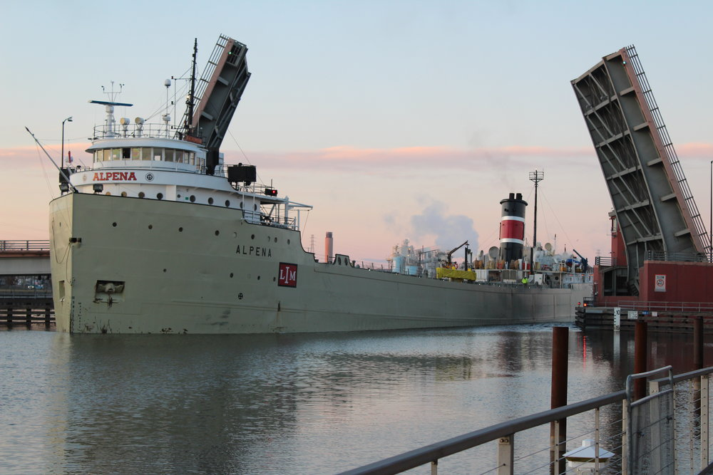 S.S. Alpena Transported cement to Lafarge June 25th