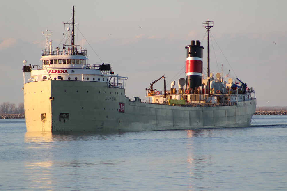 S.S. Alpena Imported cement to Lafarge from Alpena, MI July 15th
