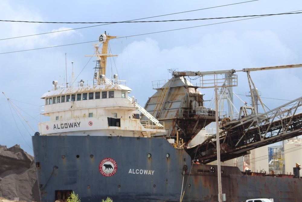 Algoway Imported salt to Fox River Terminal from Goderich July 7th
