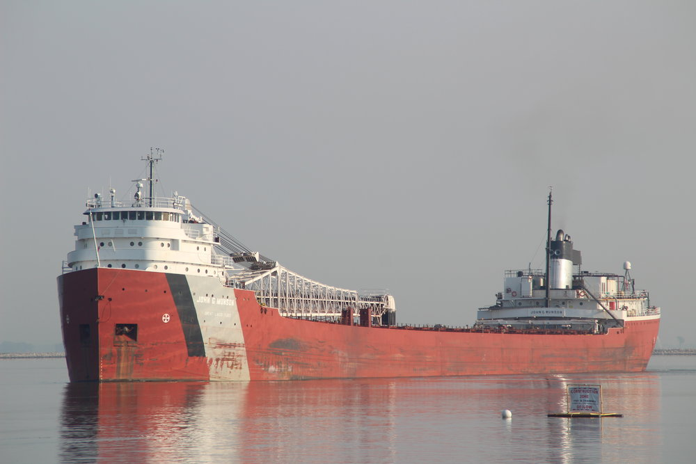 9.13.17      John G. Munson Imported coal to Fox River Terminal from Chicago, IL