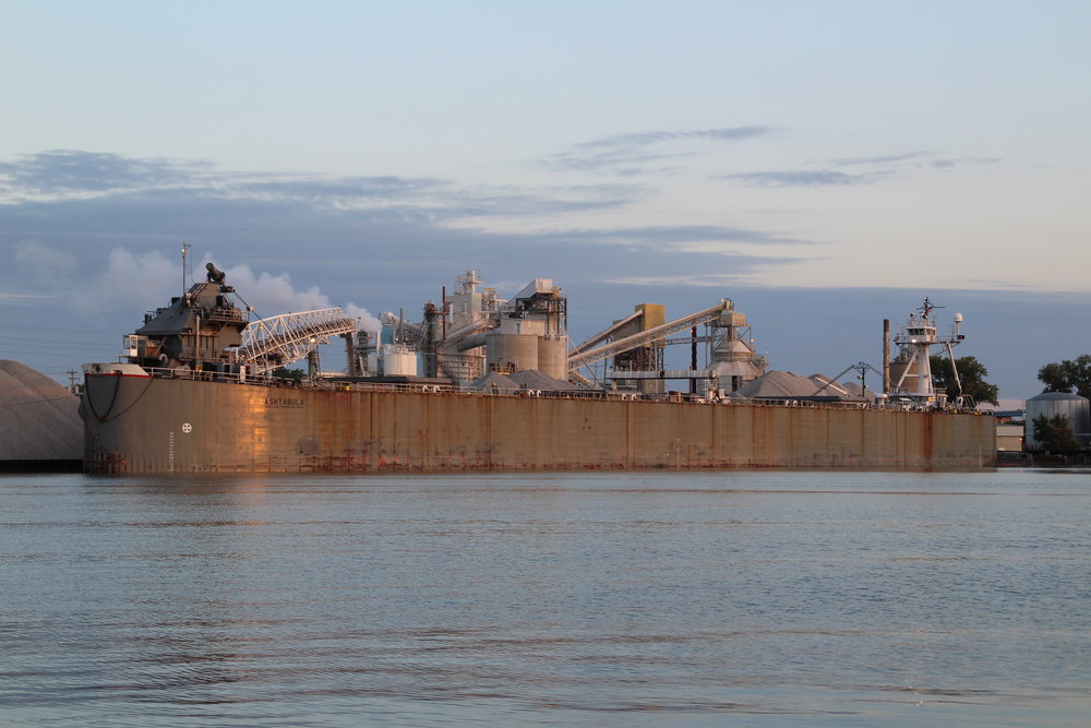 9.18.17      Ashtabula Imported limestone to GLC Minerals from Port Inland, MI