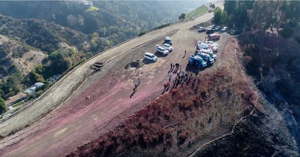 Lafd S Maiden Use Of Drone With Skirball Fire Demonstration For