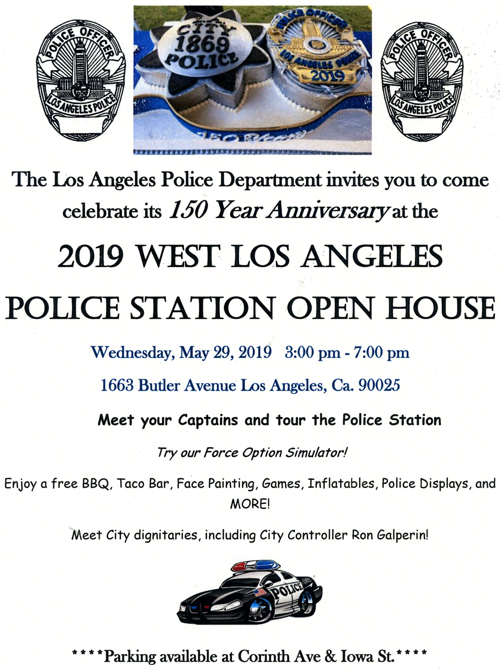 West LA Police Station Open House - Wednesday - May 29th