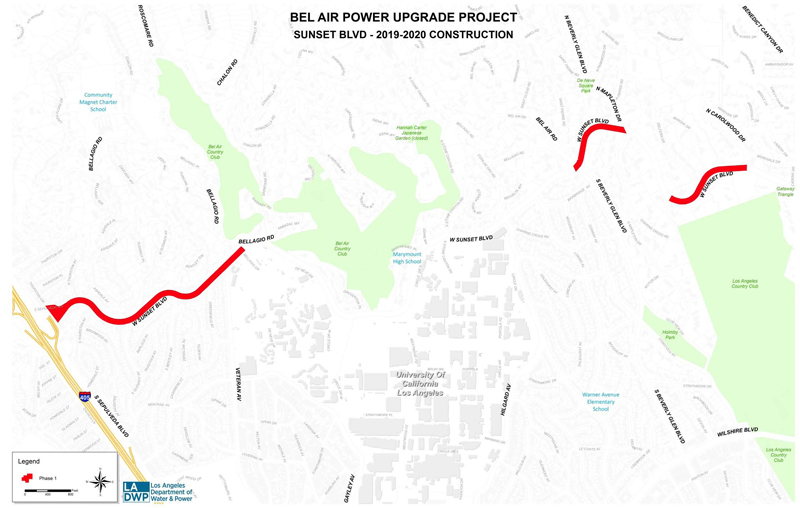 Mark Your Calendars For Huge Traffic Impact Ladwp Bel Air Power