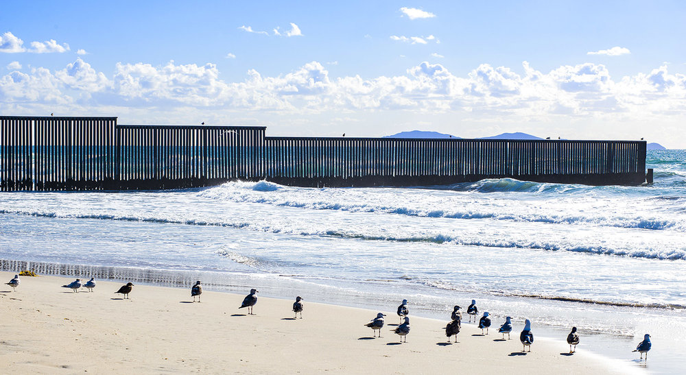 The Border Wall and the Pacific Ocean