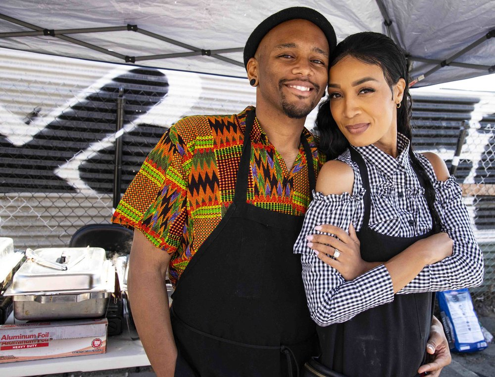 Rashad and Chandi Amsted, CRAVE Barbecue, SPARC-it-PLACE, Oakland, CA