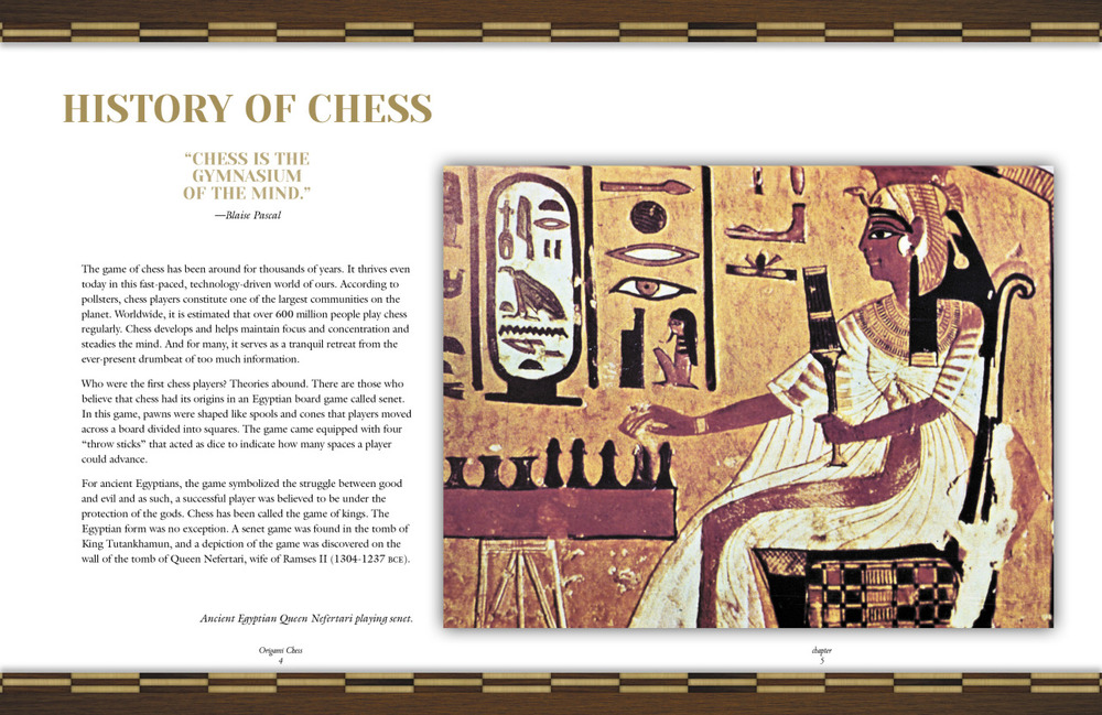 Strategy    Today, I'm jumping head first into a client project about Chess. (It's a pretty great project…more details to come.) But, here's the first spread of the book.   One spread down, 55 to go … Stay tuned, folks!
