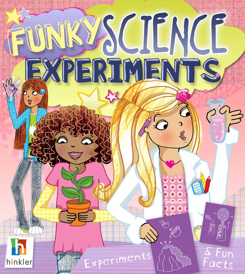 """Funky"" barely begins to describe it!     For the past few months, I've been working with rainmaker, Kirsten Hall and illustration maven, Charlie Alder on this super-sized science experiments book for kids. This project for Hinkler Books has been a labor of love. And I mean love!"