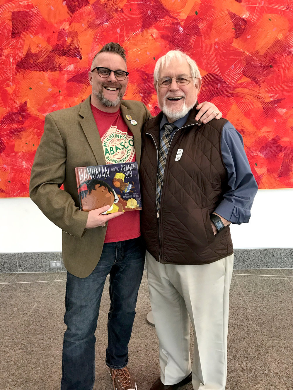 "That thing where your Dad (a.k.a. ""Big Time"") endures many hours on the highway and wears one of school ties to come to your book signing."