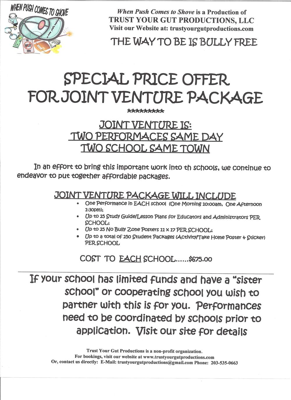 Joint-Venture Plan