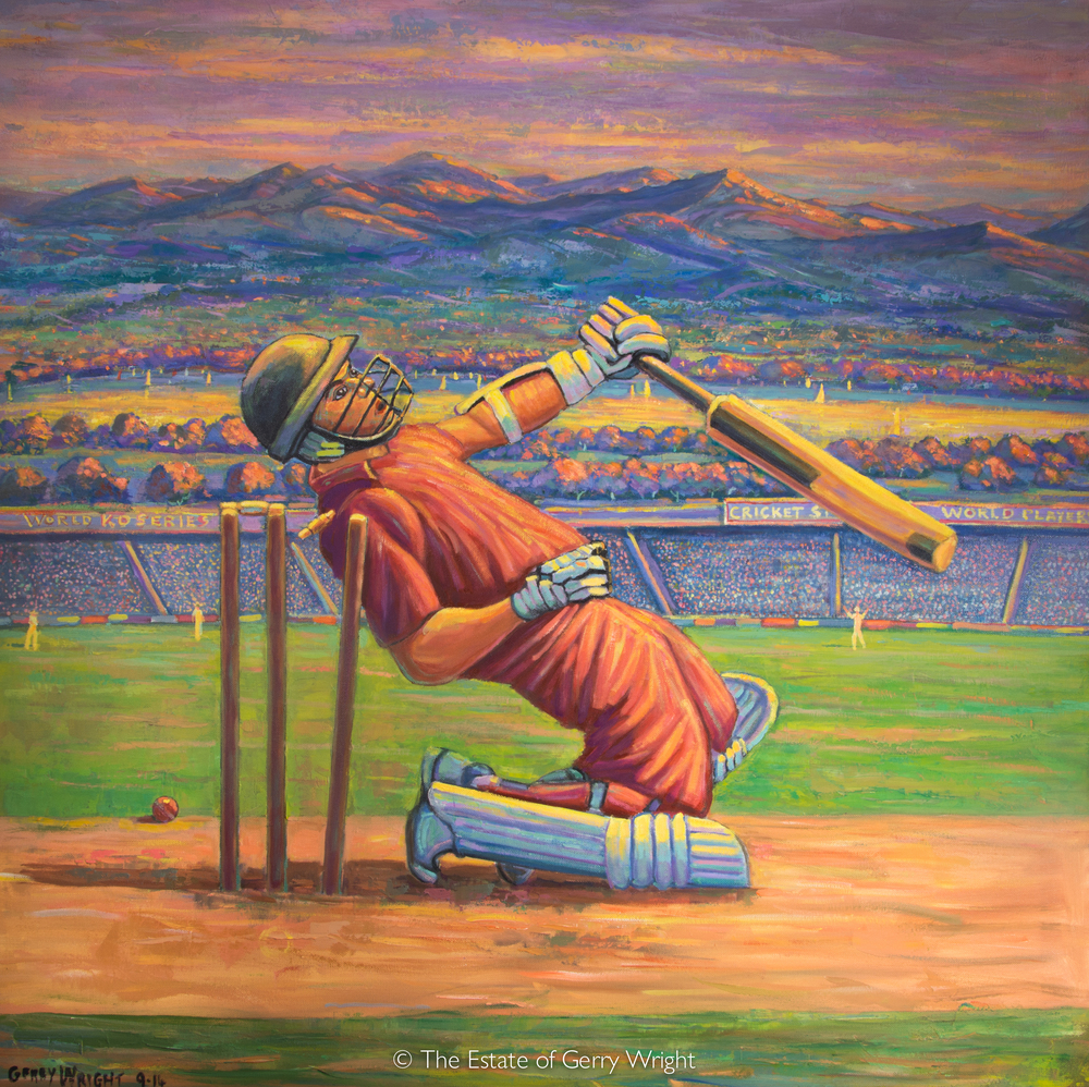 Batsman on his knees