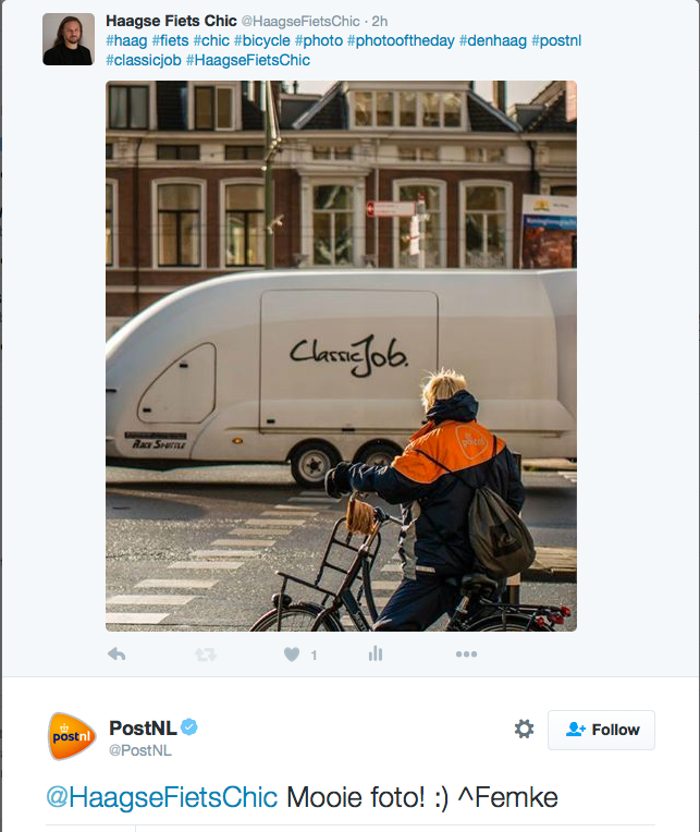 Exactly how I feel too, btw, @PostNL;-)