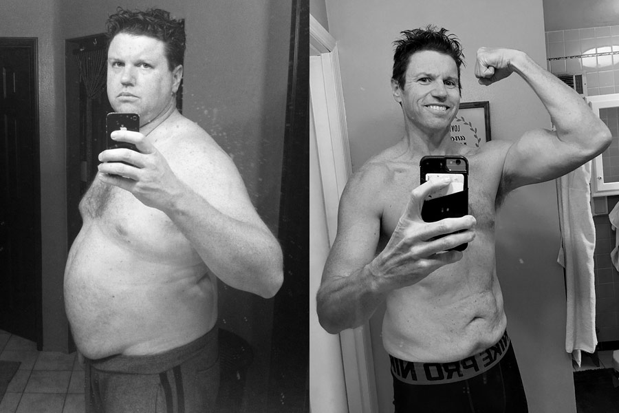 Here's my before and after photo, both taken on December 18th. On the left, 2010 at 285 pounds, and on the right, 2016 at 189! (down 96 pounds)