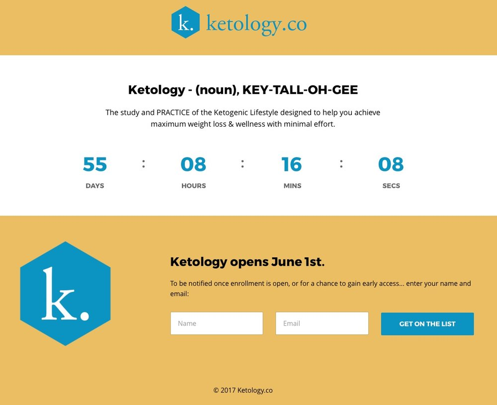 Ketology is launching June 1 with an updated version of the Lazy Man's Challenge.