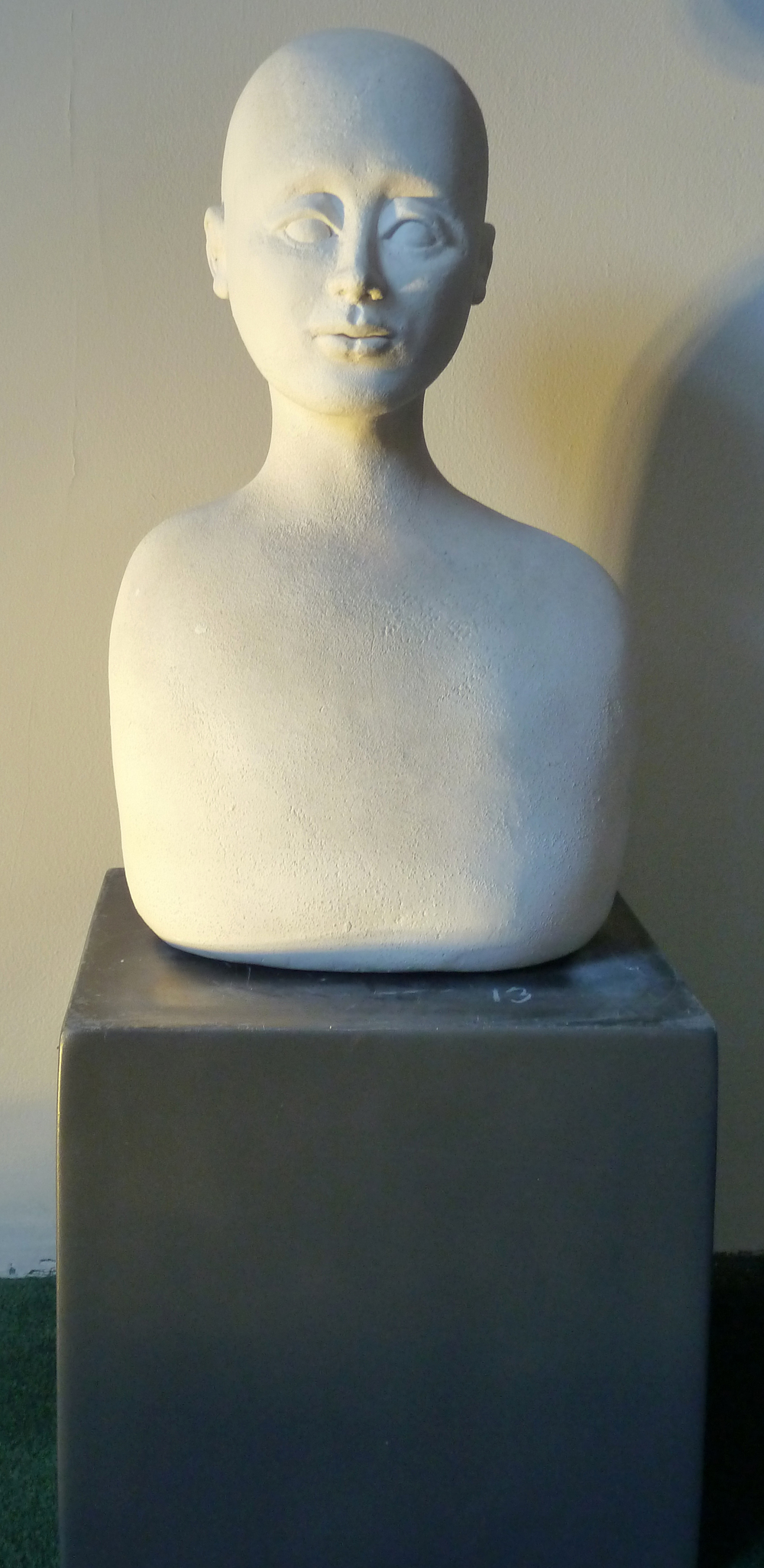 "The Seer, earthenware, 13"" x 8"" x 5"", $1,600."