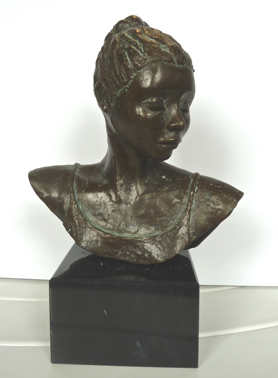 Head of a Dancer, limited edition bronze, $3,600.