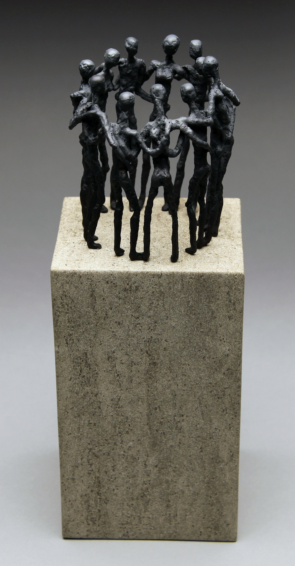 "Common Ground, bronze on limestone. edition of 24. 12""x4"". $1,750."