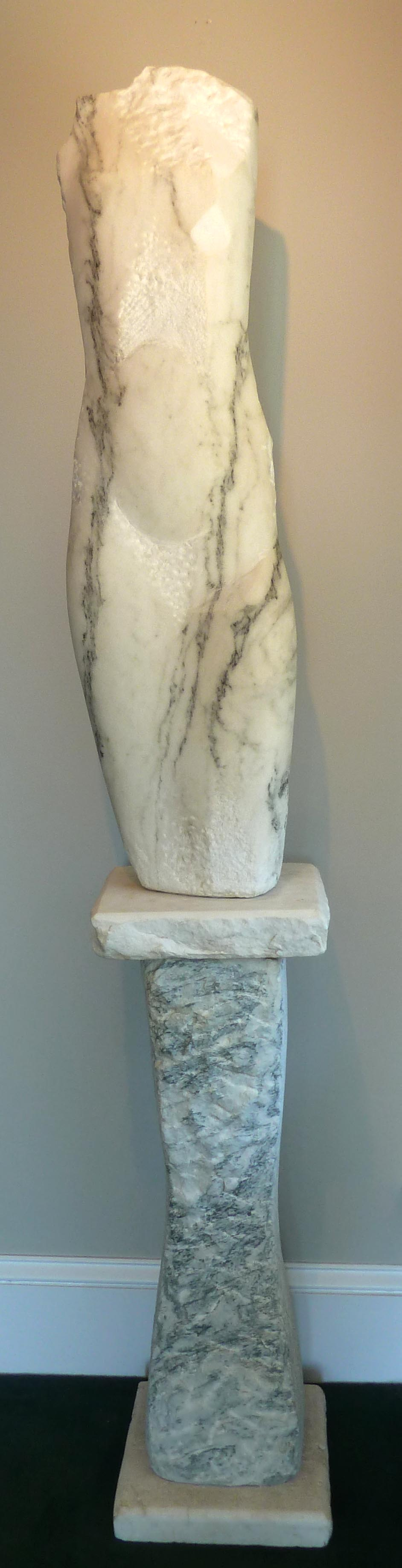 "Ancient Voice, marble. 64""x10""x8""."