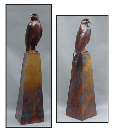 "The Messenger, bronze. 33""x8""x8"". $5,000."