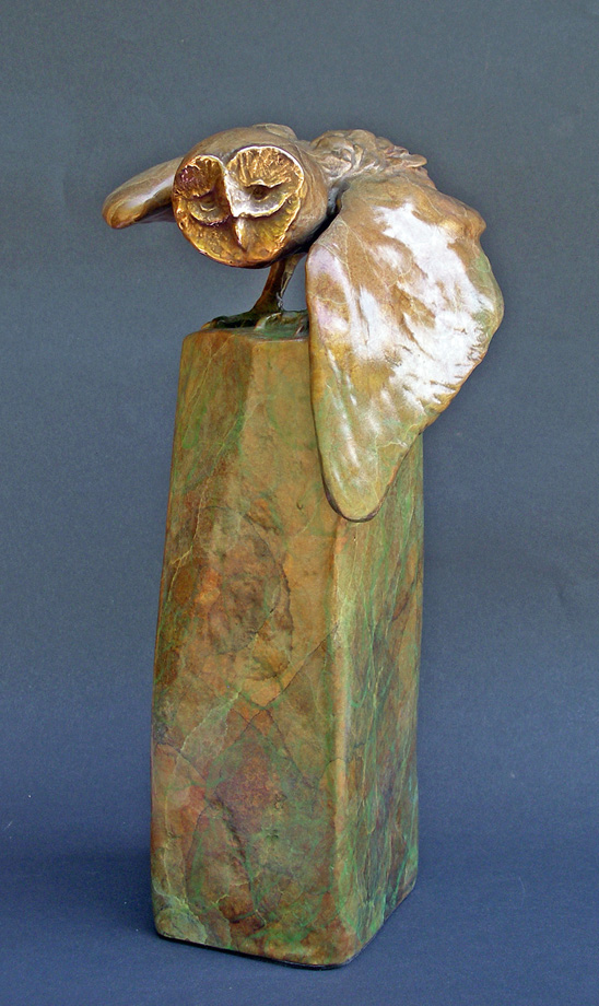 "On Your Mark, bronze. 11""x6""x6"". $2,200."
