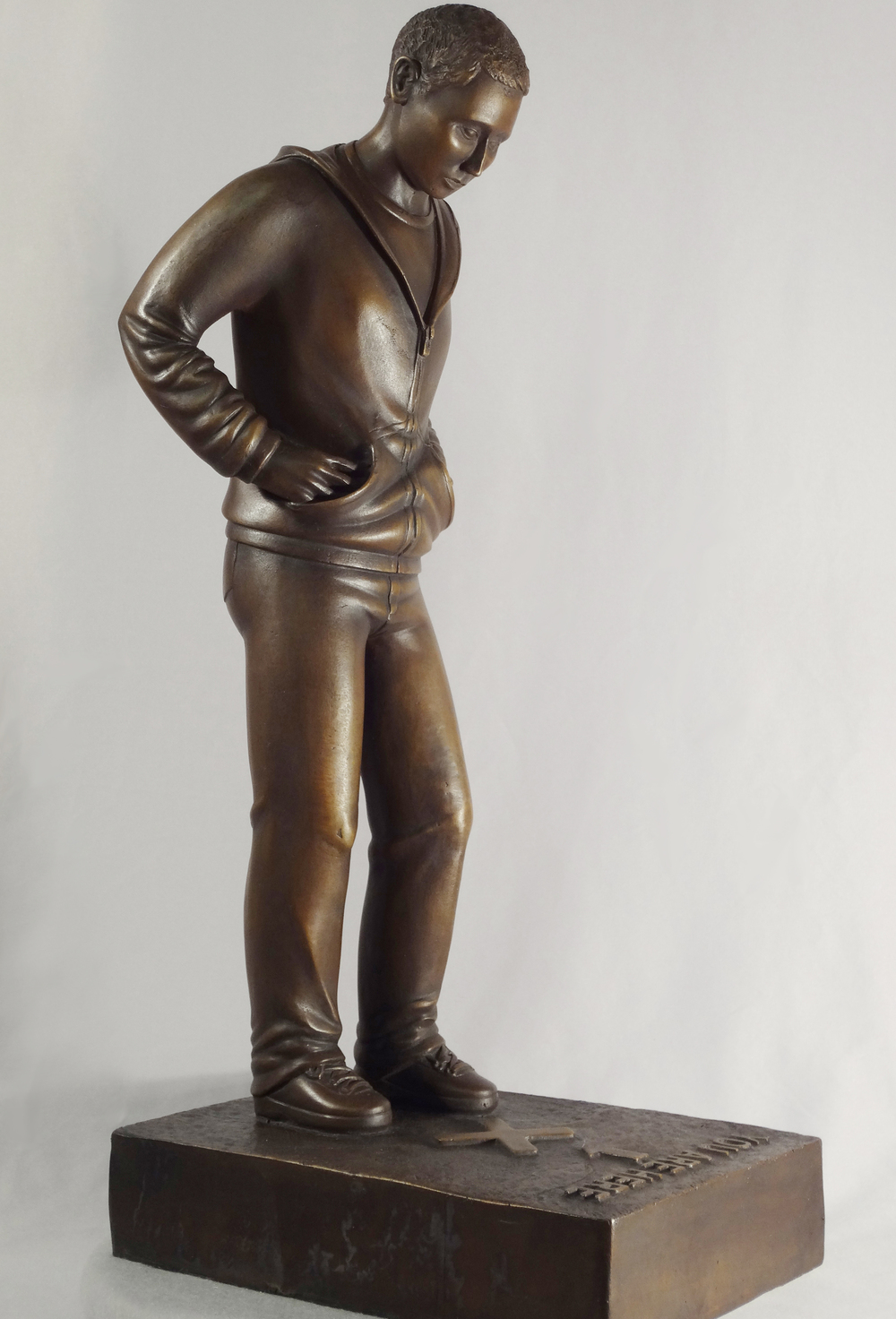 "You Are Here, bronze. 23"". $5,900."