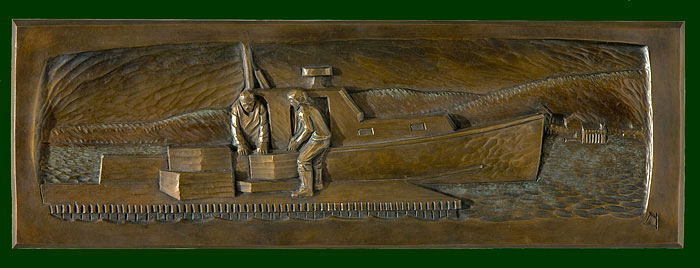 "Handsome on the Car, bronze. 11""x33"". $4,800."
