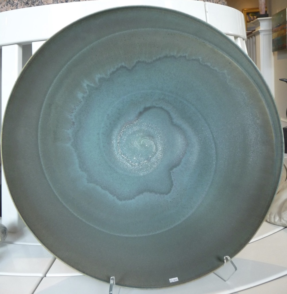 "Spiral Dance Bowl, porcelain. 17""x4"". $1,400."