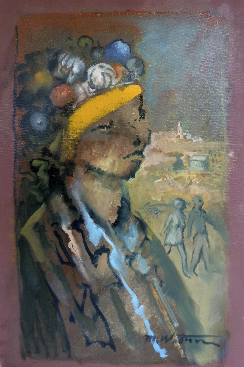 """Reminiscence, oil on canvas. 13""""x20"""". $2,400."""