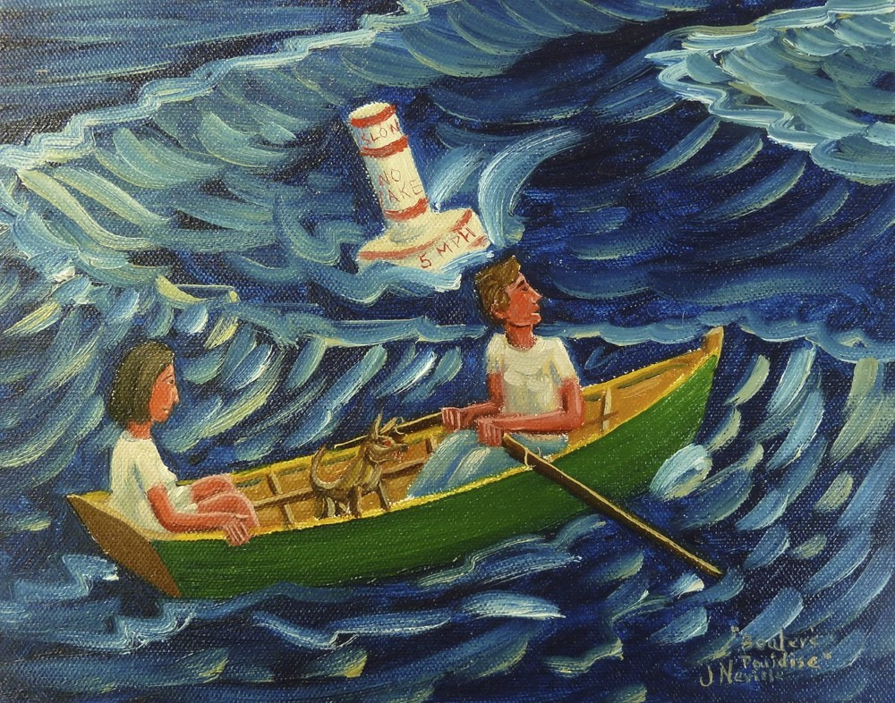 """Boater's Paradise, oil on canvas. 8""""x10""""."""