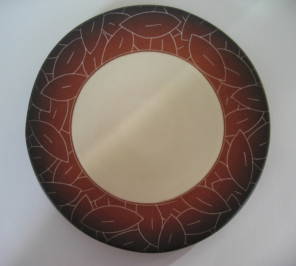 Butter Plate with Leaves, porcelain. $70.