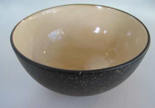 Bowl Cream/Stardust, porcelain. $45.